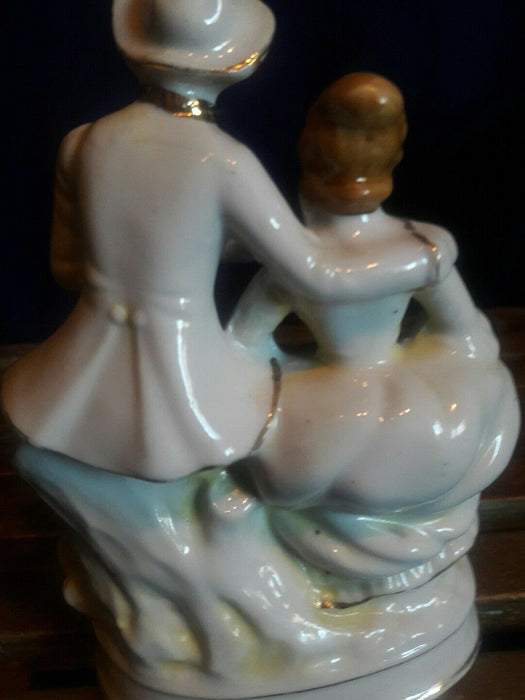 Vintage Pair Victorian Man & Lady Figurine, 6 inches tall