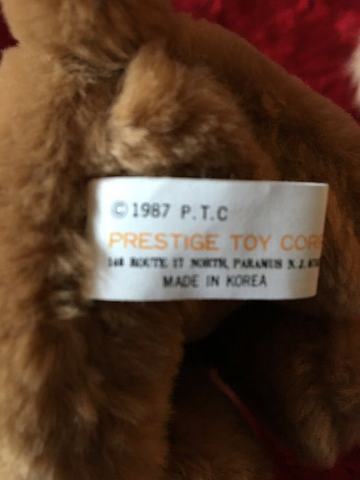 "Lot 2: PRESTIGE TOY ISOTONER BROWN COCKER SPANIEL PUPPY DOG 6"" 1987 Christmas"