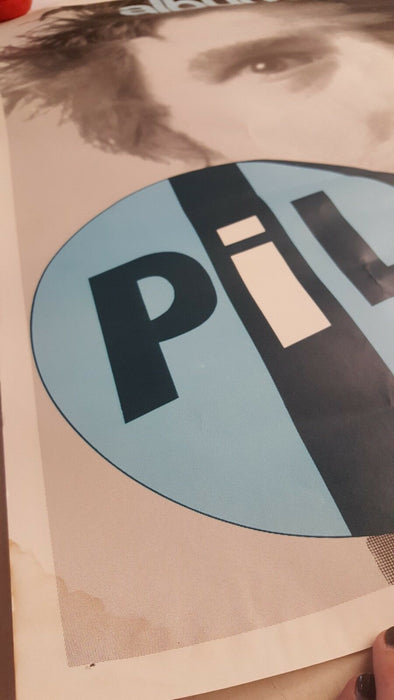 Vintage Public Image Ltd. PIL Promotional Poster Johnny Lydon Rotten Punk Rock
