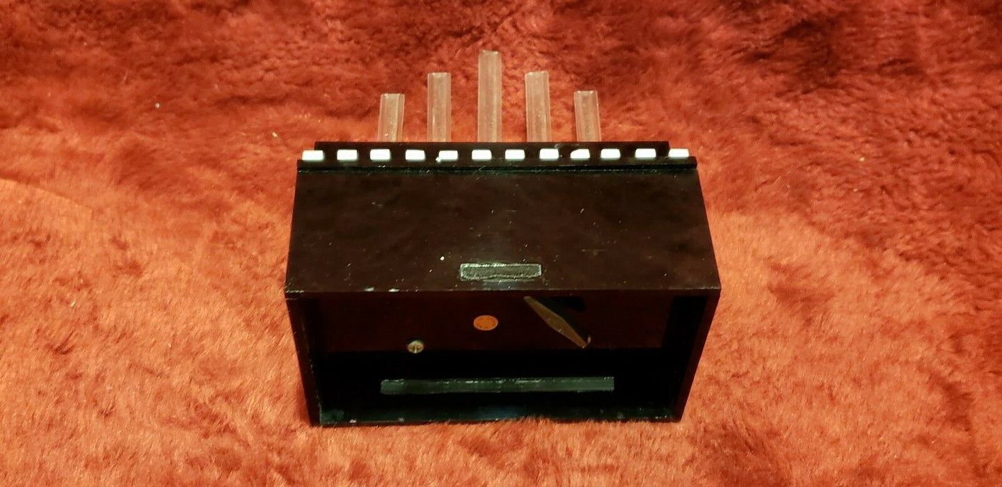 Vintage Black & White Upright Piano Music Box w/ Organ Pipes Japan