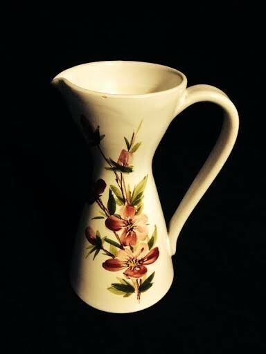 Floral Water Pitcher - Made in Italy - #362.  7 inches high