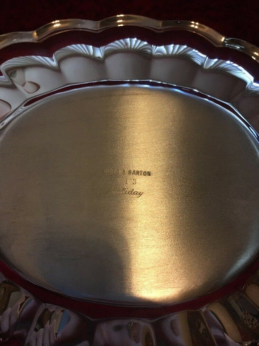 "Vintage Reed & Barton 10.5"" Silver Plated Scalloped Bowl Holiday #113"