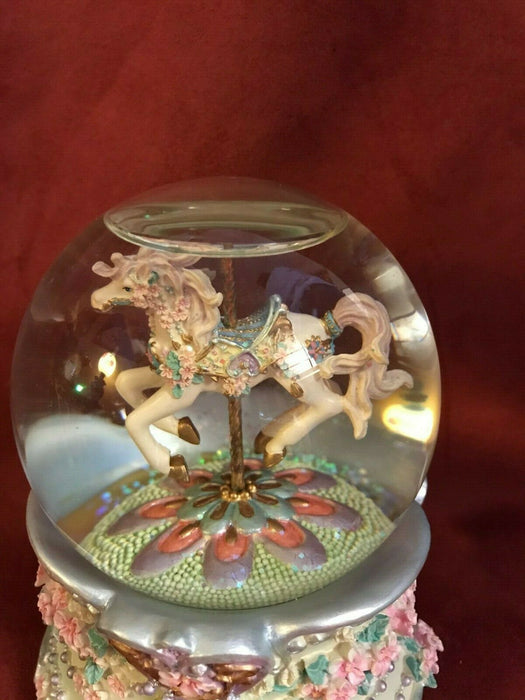 "Sankyo Carousel Horse Musical Snow globe: Tune ""All I Ask of You"""