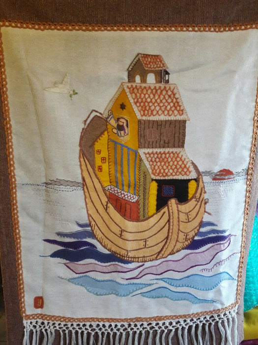 Noah and The Ark Tapestry Wall Hanging 40x28