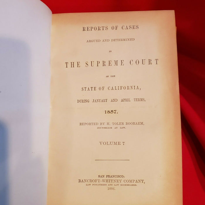 1852 US Supreme Court Reports--Four Volumes--Hardcover