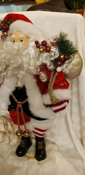 "22"" Tall  Santa Claus Figurine, St. Nicholas, Christmas Heavy Duty w/ Gifts"