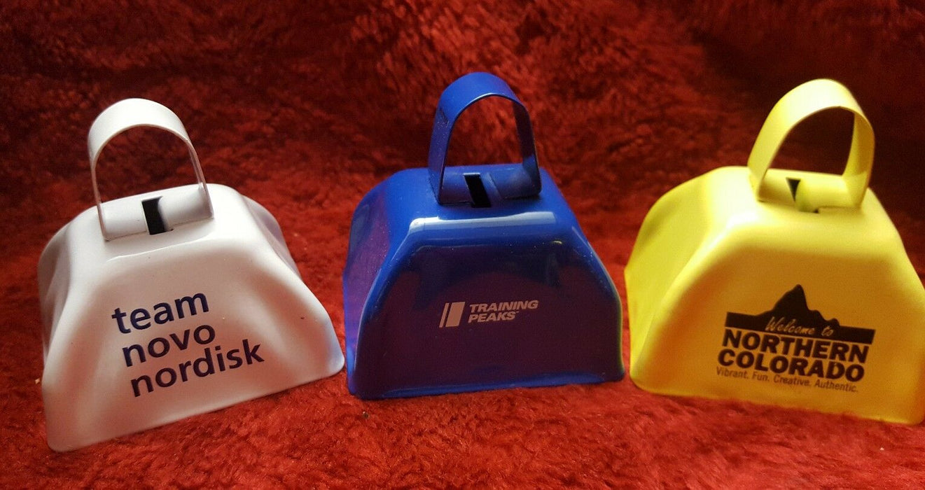 Lot 3: Branded Cow-Like Bell Instrument Team Novo Nordisk, Training Peaks, NoCo