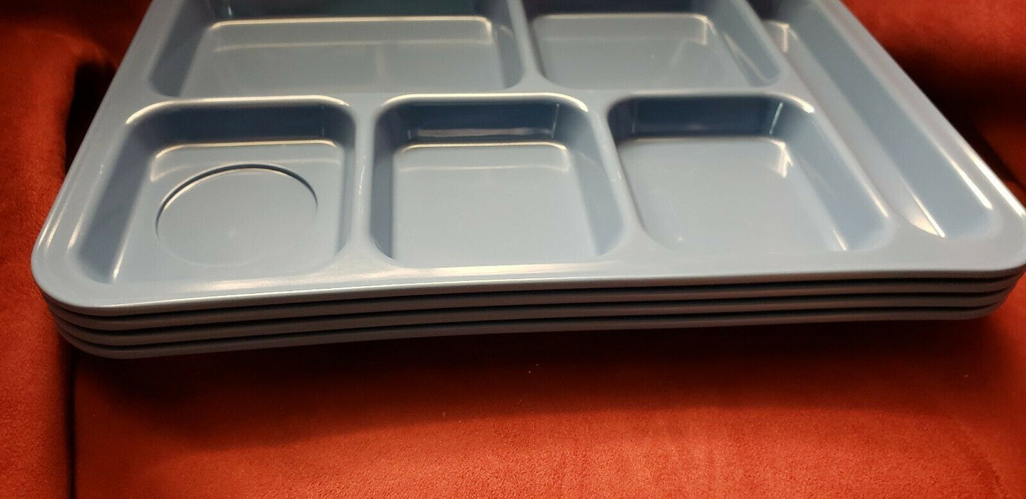 Lot 5:  Pottery Barn Kids Melamine Cafeteria Lunch Food Trays Baby Blue