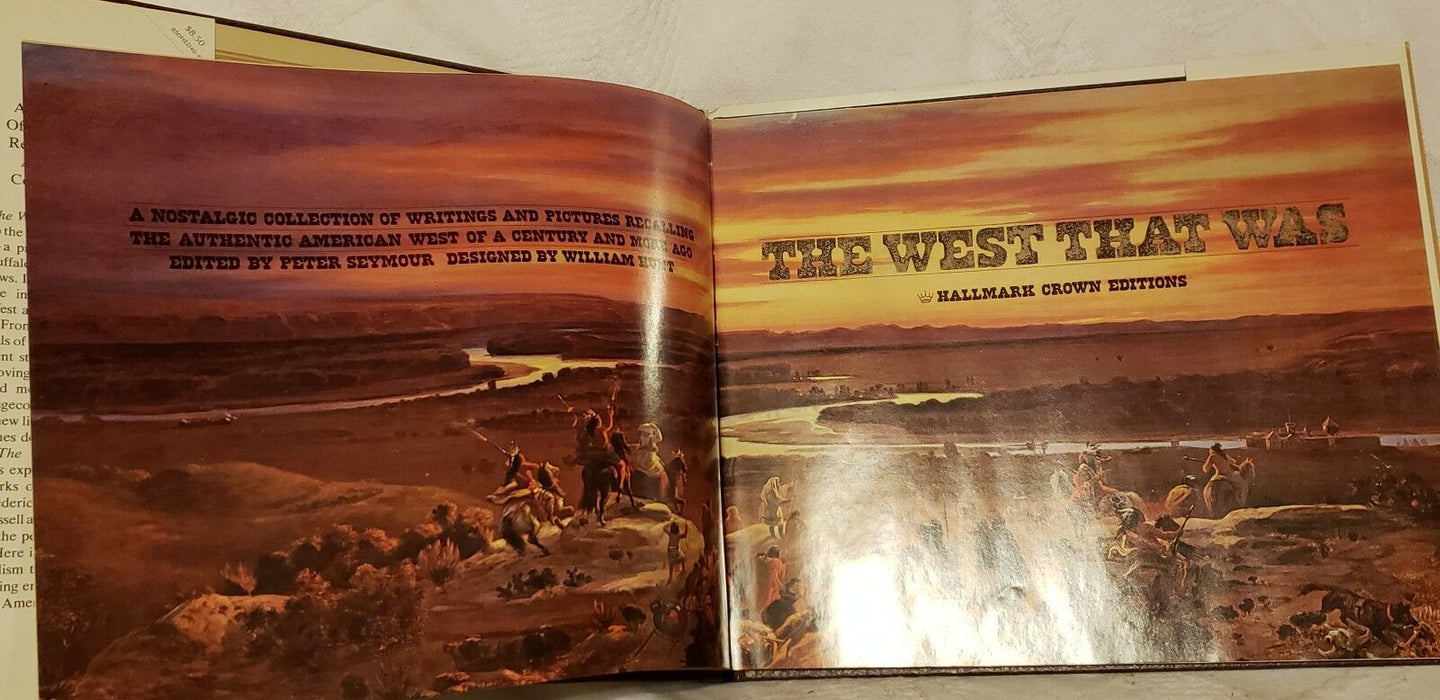 The West That Was, 1973, hcdj, w/ original box, Writing & Photo's of the West