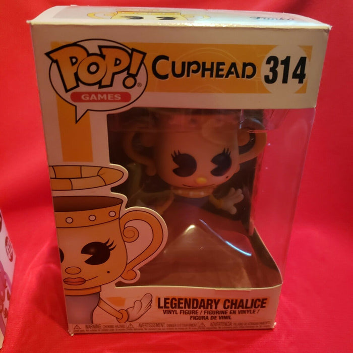 Funko Pop! Games Lot Of 2 Cuphead Cala Maria #412 & Legendary Chalice #314 New
