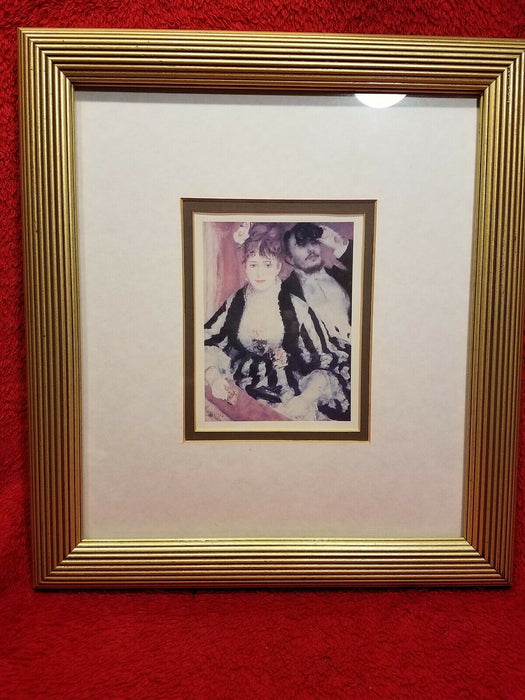 French Style Can Can Girl Print Moulin Rouge Scene 1974 Matted & Framed