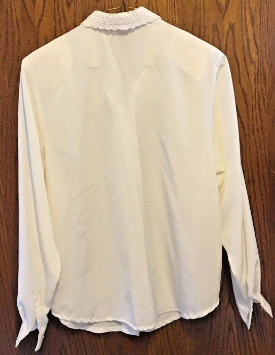Button Up Blouse Long Sleeve Women's Size L
