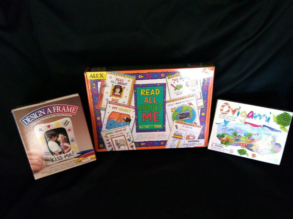 Lot 3: Read All About Me Activity Book, Design A Frame & Ocean World Origami Kit