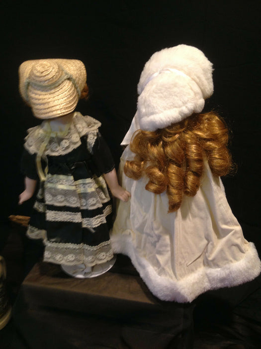 Lot 2: Porcelain Dolls, Anco Winter Doll & Enesco Pioneer Doll