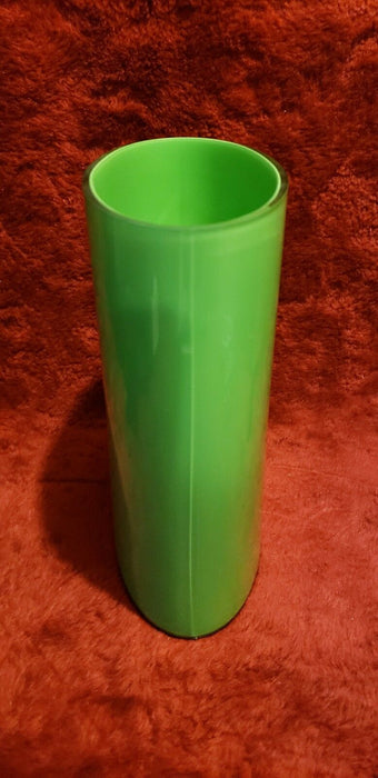 Vintage Lime Green Cased Glass Vase Hand Made Thailand