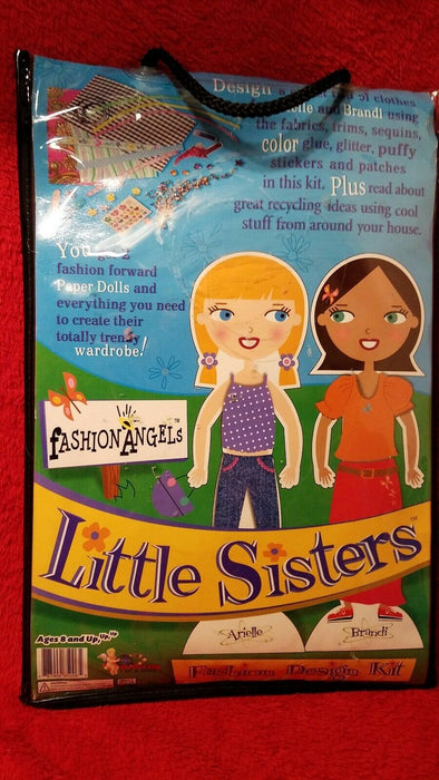 New Little Sisters Fashion Design Kit Paper Dolls & Design Your Own Clothes