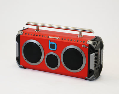 Bumpboxx Flare6 Bluetooth Boombox - RED - Bumpboxx Europe
