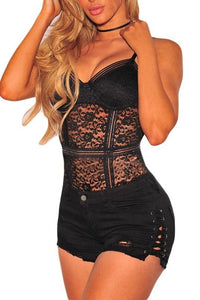 MPG Store Lace Up Sides High Waist Shorts 0719