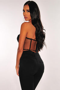 MPG Store Black Lace Bustier 0719