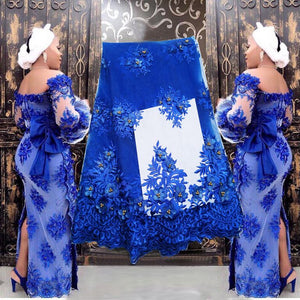 Bridal Nigerian Wedding Lace Materials 3D Lace Fabric High Quality 2019 African Lace Fabric On Sale Beads Lace Fabric wine 002
