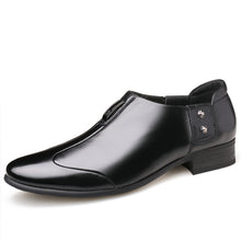 Misalwa British Elegant Men Pointed Dress Shoes Slip on Side Buckle Casual Party Oxford Shoes Shallow Low Ankle Men Formal Shoes