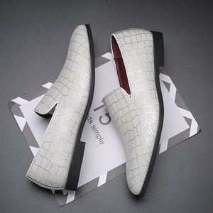 Misalwa Drop Shipping Formal Shoes Men Oxford Shoes for Men Dress Wedding Shoes White Leather Men Loafers Driving Flats 38-48