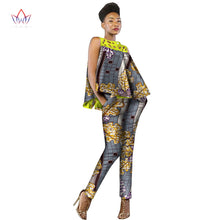 New Fashion African Dress Women 2 Pieces Set Women Sleeveless and Casual Tops Dashiki Print Pants African Women Clothing WY2339 1
