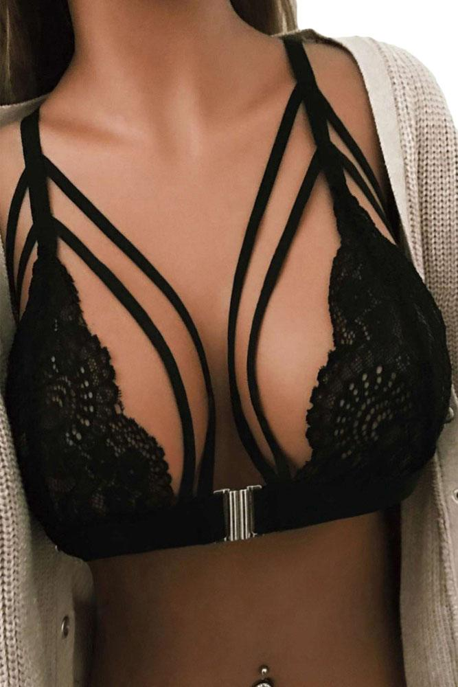 MPG Store Sexy Black Obsession Bralette Top 071994