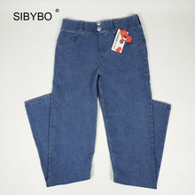 Sibybo Women Full Hip Skinny Elastic Waist Stretch Jeans New Fashion Sexy Female Autumn Winter Jeans Pencil Pants 5 colors