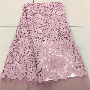 VILLIEA Pink Nigerian French Lace Fabrics 2019 African Tulle Lace Fabric High Quality African Lace Wedding Fabric For Dress