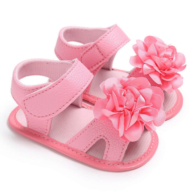 Baby girls sandals flowers shoes summer Toddler Girl Crib Shoes Newborn Flower Soft Sole Anti-slip Baby girls Sandals
