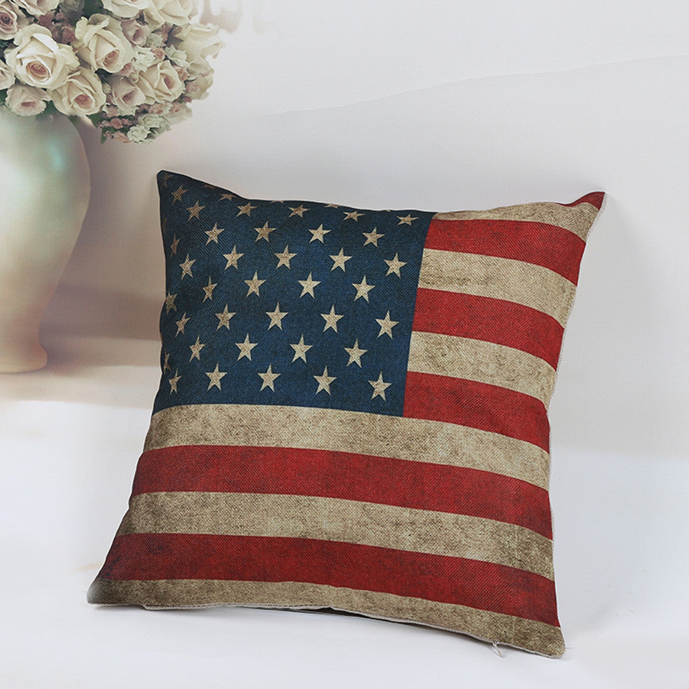 National Flag Pillow Case Waist Throw Cover Home pillow case vintage Home