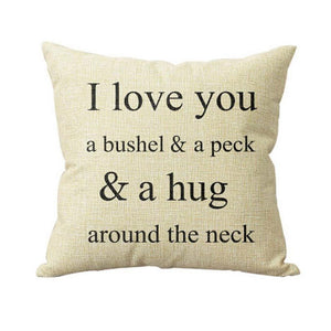 Super Deal Hot Sale I Love You A Bushel And A Peck Bed Home Pillow Case Cover XT