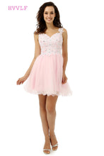 See Through 2019 Homecoming Dresses A-line Sweetheart Short Mini Pink Organza Lace Crystals Sweet 16 Cocktail Dresses
