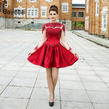 Baijinbai Pretty Women New Red A-Line Homecoming Dresses 2019 Knee Length Full Sleeves Vestido De Festa Short Party Dresses79221