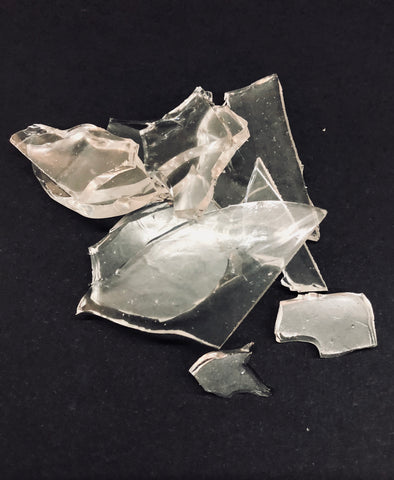 Fake rubber glass shards