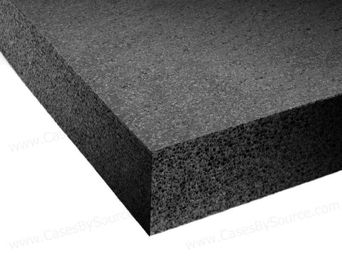 High density black foam for costumes and props
