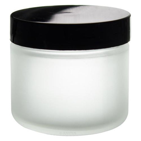 Frosted plastic 2 oz container and lid