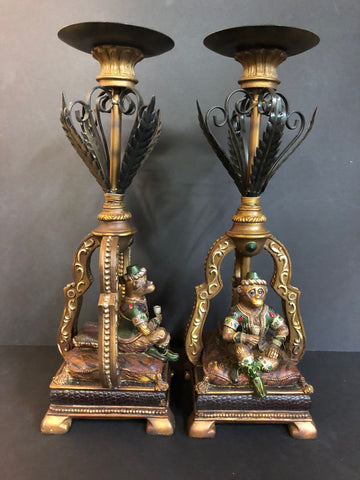 Two heavy monkey king candle holders from the One Hit Die web series.