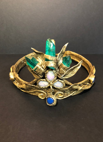 Fake wearable bejewelled tiara prop from the One Hit Die web series.