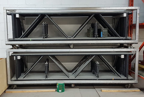 Folding Triangle Truss 10 sections with stacking racks