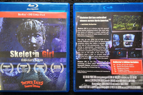 Skeleton Girl Collector's Edition Blu-Ray + DVD Combo Pack