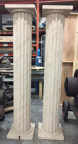 Faux marble foam pillars (2x)