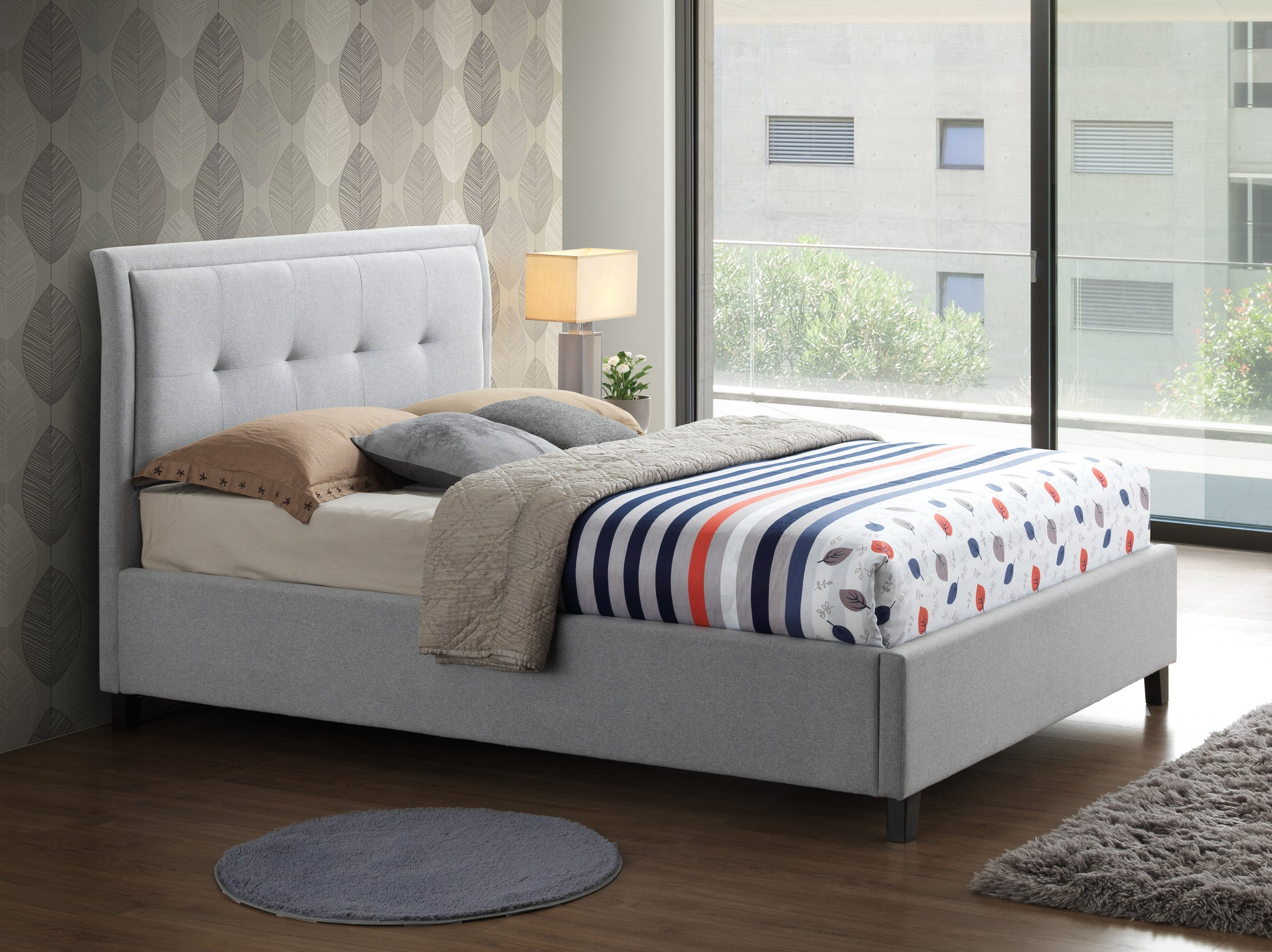 Laver Fabric Bed Frame