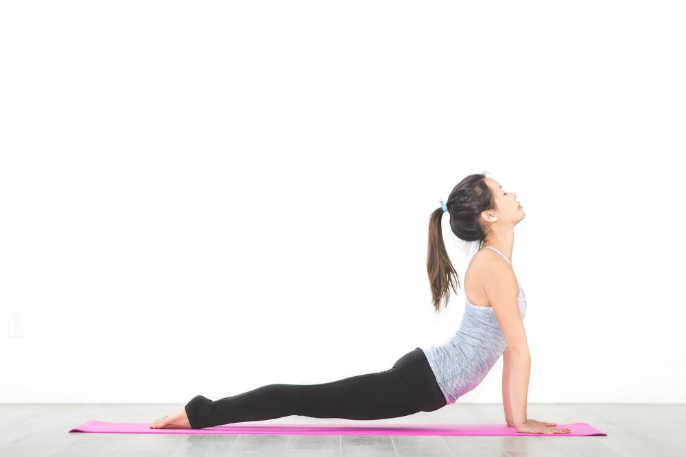 upward dog yoga pose practice