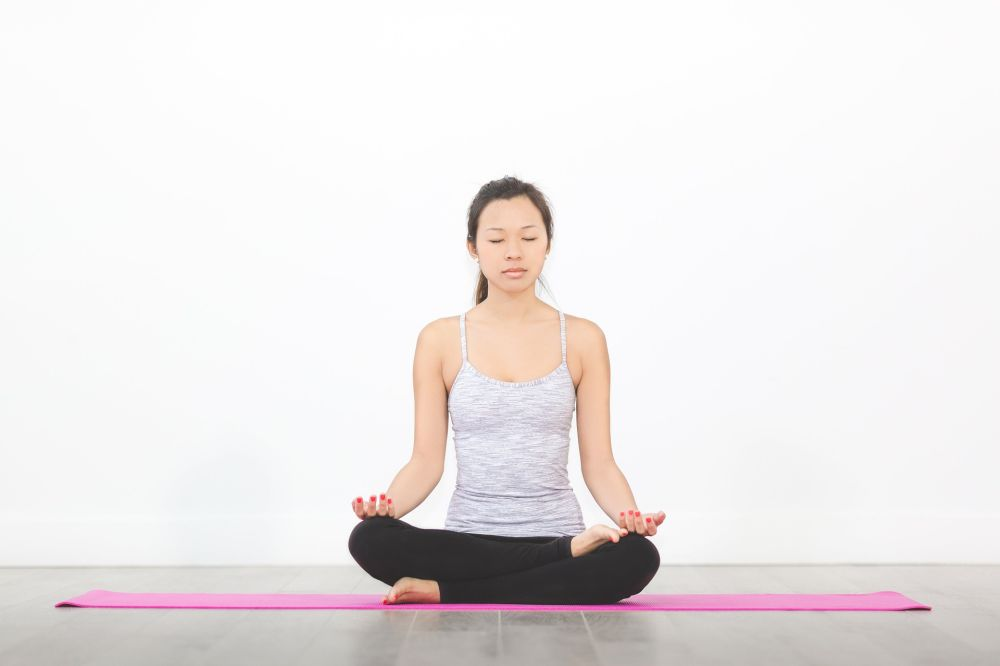 yoga breathing quiet pose