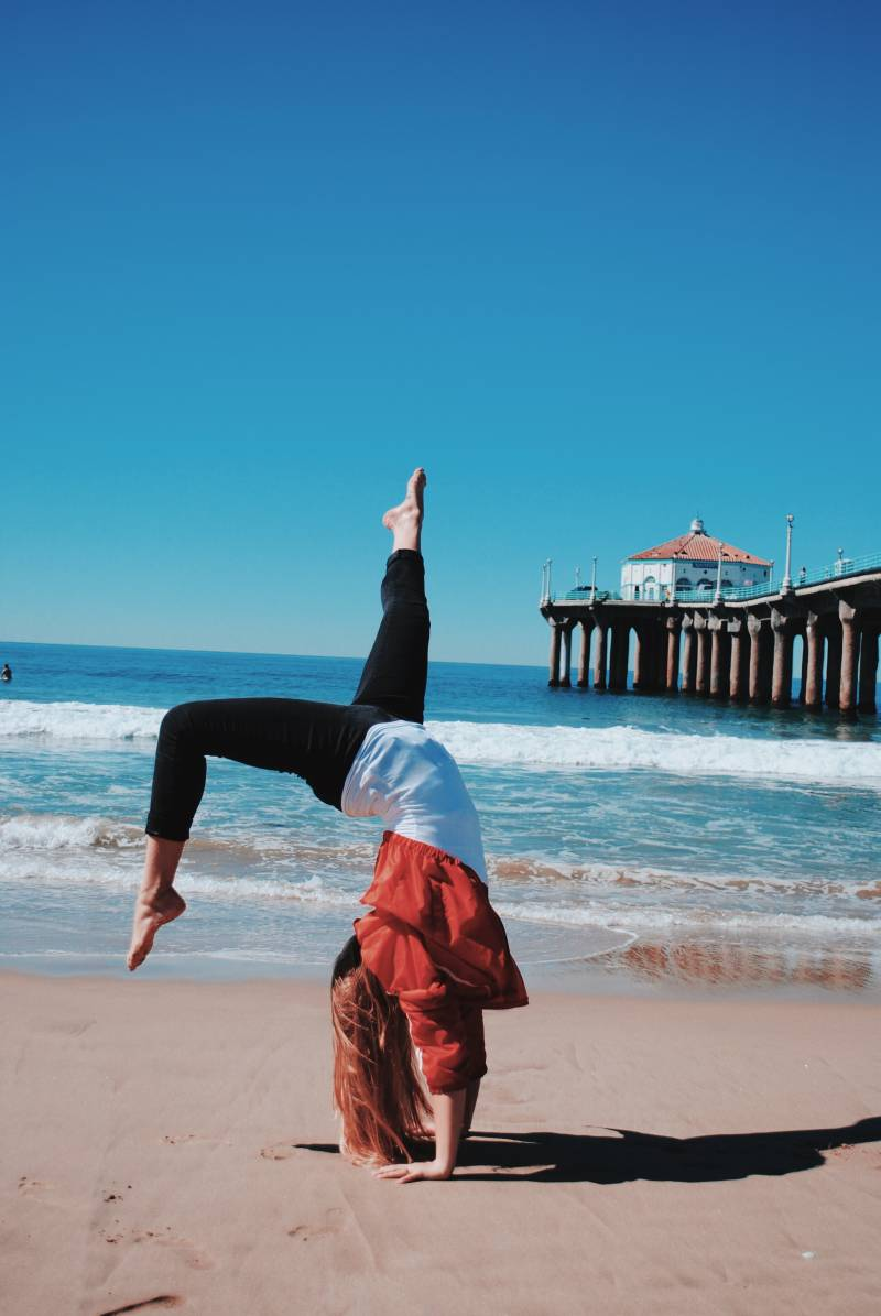 yoga handstand exercise pin