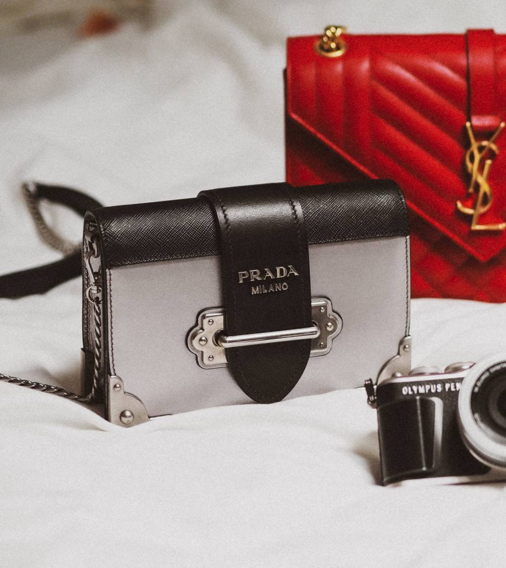 prada luxury handbag resale