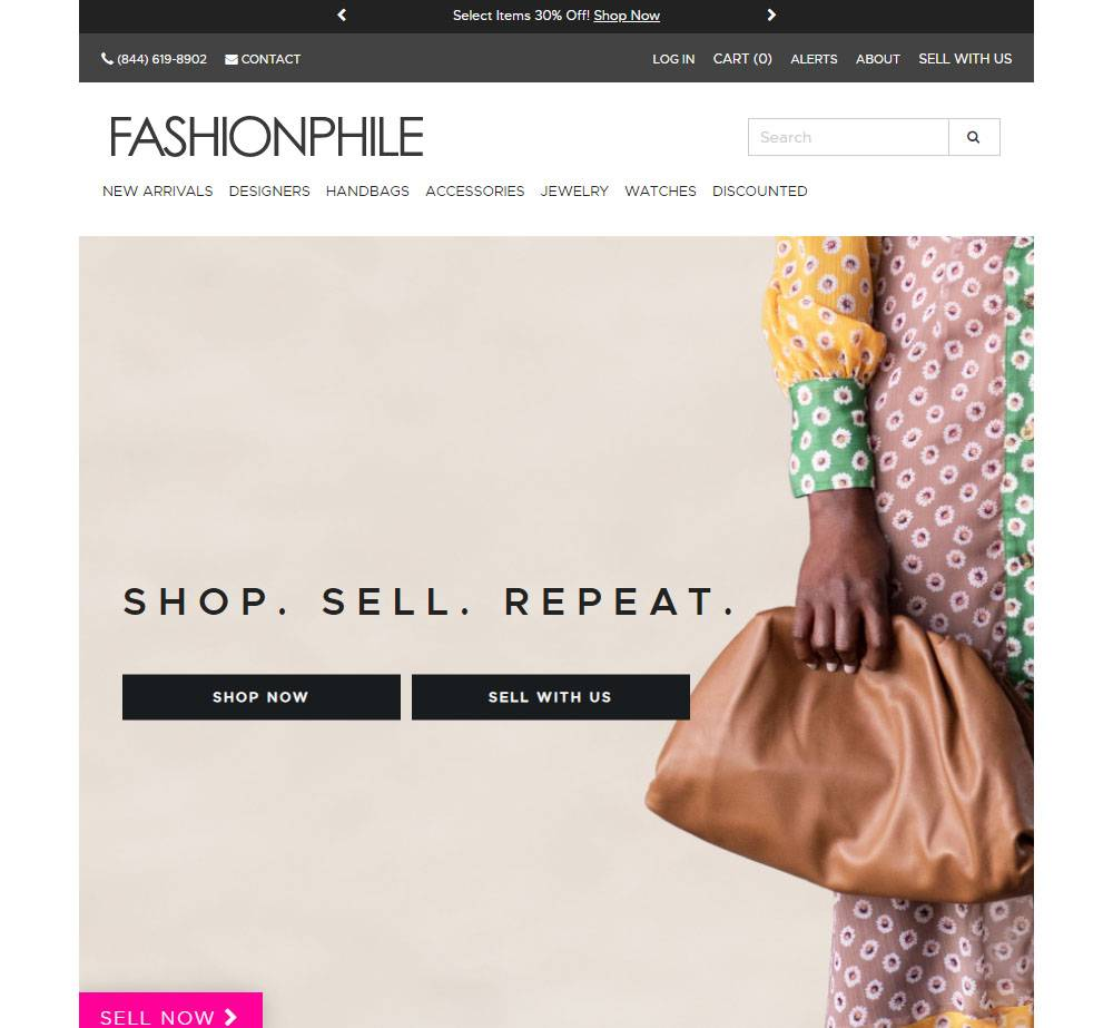 fashionphile luxury resale store