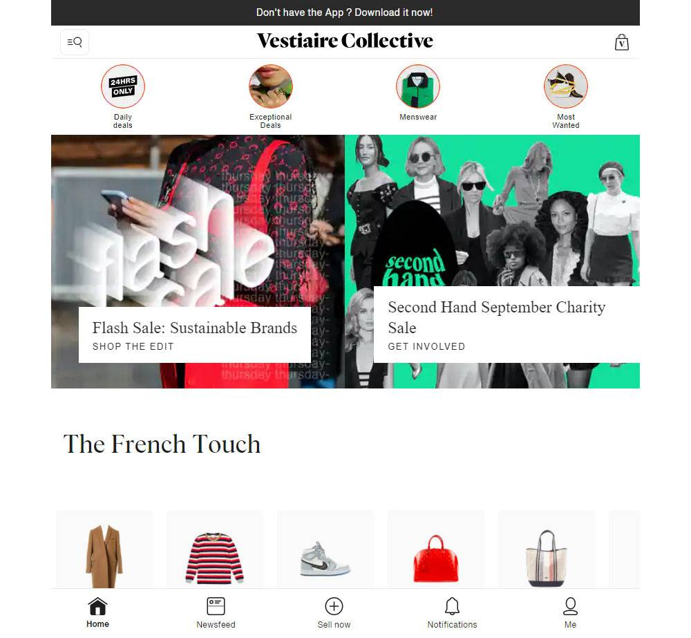 vestiaire collective luxury fashion store